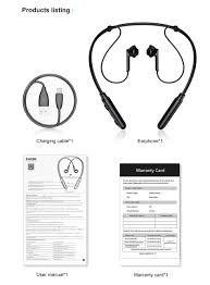 Baseus encok s16 wireless bluetooth earphone neckband bass sports in ear headphone for iphone xiaomi