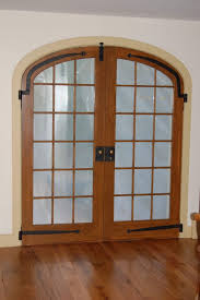Large Arched Interior French Doors Design With Glass