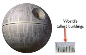 death star size just how big would a scale lego model of the death star be