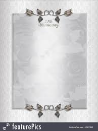 25th Silver Anniversary Invitation Royalty Free Stock Illustration