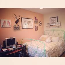 Peach Bedroom Decorating Bedroom Collage Elk Head Anthropologie Bedspread Urban
