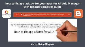 how to fix app ads txt for your apps