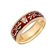 fabulous wellendorff red enamel hibiscus ring betteridge ze62 source betteridge