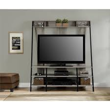 ... Wall Units, Excellent Entertainment Centers Walmart Entertainment Center  Wall Unit Black Iron And Wooden Cabinet ...