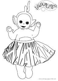 Small Picture Teletubbies color page Coloring pages for kids Cartoon