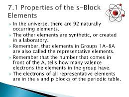 The Elements.  In the universe, there are 92 naturally occurring ...