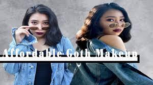 affordable goth makeup tutorial jeysel rei you