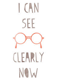 Glasses Quotes Inspiration Inspirational Art I Can See Clearly Now Typography Print