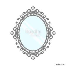 ornate mirror vector. vintage mirror vector ornate o