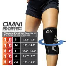 Knee Sleeve Size Chart Neoprene Knee Sleeves Omni Compression Llc