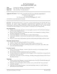 Retail Management Skills Resume Resume For Study