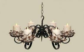 real candle chandelier non electric pillar wrought iron candle chandeliers design solar lights lighting ideas pendant