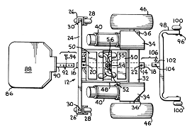 patent us front wheel rear wheel drive convertible patent drawing