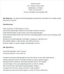 Photographer Resume Objective Photographer Resume Sample Pdf Photography Resume Template Resume 96