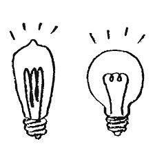 裸電球のイラストpng えんぴつ素材