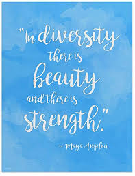 Amazon ECHOLIT Maya Angelou Diversity Quote Poster For Unique Quotes About Strength And Beauty
