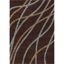 orian rugs liberty chocolate indoor novelty area rug common 5 x 8 actual