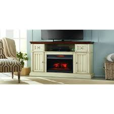home decorators collection montauk s 60 in a electric fireplace in antique white and um