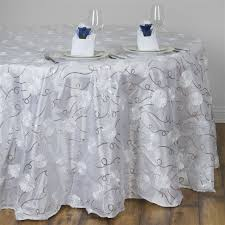 120 white whole fl swirl taffeta sequin tablecloth for wedding catering event party sold out