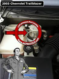Acprocold Com Chart 2003 Chevrolet Trailblazer Low Side Port For A C Recharge