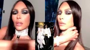 Kim Kardashian sparks racism row with nipple-flashing Halloween ...
