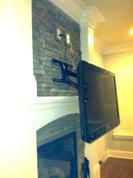 tv mount on brick fireplace above fireplace wires mounting over gas fireplace fireplace mounted hide wires mount above fireplace no above fireplace diy