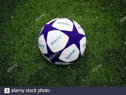 A 24-inch (60 cm) medicine ball is seen on the field before the start of
