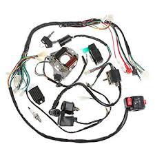 amazon com minireen full wiring harness loom kit cdi coil magneto Trailer Wiring Harness at Pit Bike Wiring Harness Kits