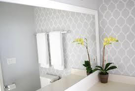 moroccan wall stencil contemporary bathroom valspar