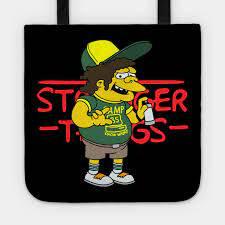 Camp Know Where 85 Stranger Things Dustin Simpson - Camp Know Where 85 -  Sac Fourre-Tout   TeePublic FR