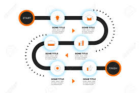 Layered Infographic Timeline Vector Roadmap Template For Modern