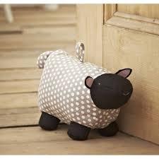 Furniture:Cute Fabric Sheep Door Stop With Polka Dots Motif And Pallet  Wooden Floor Idea