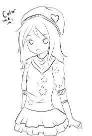 Anime Girls Coloring Pages Cute Girl Beautiful Page To Print Animals