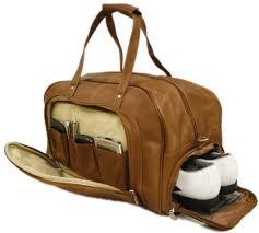 leather duffel bag image