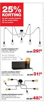 25 Korting Op Alle Lucide Lampen Uit De Series Sebo Fix En Lester