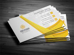 25 Yellow Business Card Templates Ai Word Psd Free Premium