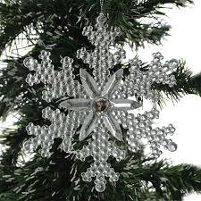 Новогоднее <b>украшение Crystal Deco</b> «<b>Снежинка</b> со стразами ...