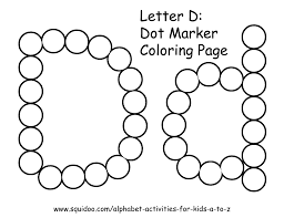 Small Picture letter d dot marker coloring page 1 Learning Pinterest