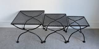 salterini wrought iron furniture. Beautiful Set Of 3 Salterini Wrought Iron Nesting Tables For The Patio. Sturdy And Well Made, These Have A Fresh Coat Black Paint. Furniture