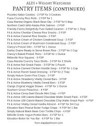 weight watchers aldi ping list aldi freestyle points list