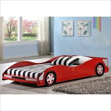 image of twin race car bed low