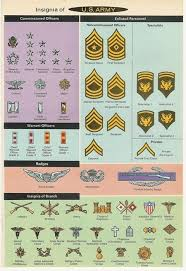 Armed Forces Insignia Chart 67 Bright Us Military Hierarchy Rank Chart