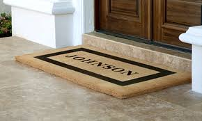 personalized front door matsHalf Off Mats from Personalized Doormats Company