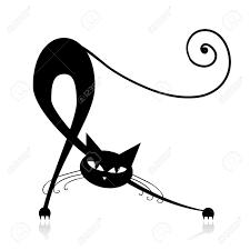 Chat Noir Silhouette Banque D Images Vecteurs Et Illustrations