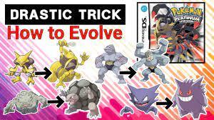 DRASTIC TRICK: Pokemon Platinum | How to Evolve Kadabra, Machoke, Haunter &  Graveler
