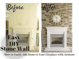 how to easily add stone to your fireplace with airstone tutorial