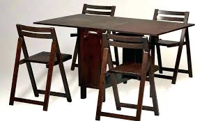 folding dining table and chairs room set collapsible brown uk