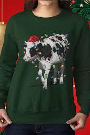Christmas T Shirts Led Lights Cow Led Christmas Lights Farmer Gift Design Available On