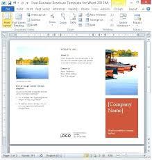 Template Brochure Word Metabots Co