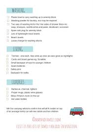 What To Pack For A Family Camping Trip Your Essential Printable